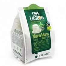 Café Bio et Faire Trade Mano Mano Subtil 10 Capsules 100 % compostables