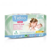 Composteerbare babydoekjes met calendula - Natuurlijk parfum - 58 stuks