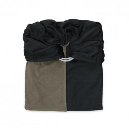 Kleine halsdoek zonder strik : lavendel/kastanje