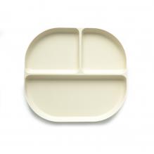 Set van 4 diepe borden in bio-afbreekbare bamboevezels (Oranje, Wit, Geel, Aqua) 18 x 18 x 2cm