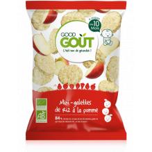 Mini rijstwafeltjes met appel 40g vanaf 10 maanden