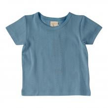 Pointelle t-shirt in BIO katoen - adriatisch blauw