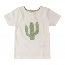 T-shirt met korte mouwen in BIO katoen met cactus print