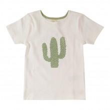 T-shirt in bio katoen met cactus print