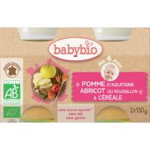 Appel-abrikoos-graanvlokken (vanaf 4 maanden) - 2 x 130 g