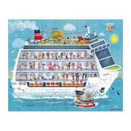 2 puzzels Cruise schip 100 en 200 stukken vanaf 3 jaar