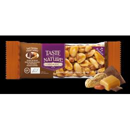 100% biologische reep - Dark chocolate Peanut caramel 1 x 40 g
