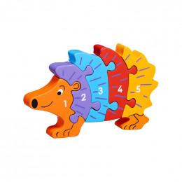 Houten 3D-puzzel - Egeltje 1-5