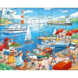 Puzzeldoos van 3 Puzzels - Aan Zee