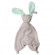 Knuffeltje Floppy badstof - Silver grey/fresh mint