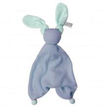 Knuffeltje Floppy badstof - Deep blue/fresh mint