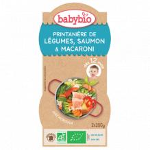 Groente zalm en pasta met parmezaanse kaas Bio vanaf 12 maanden 2 x 200 g