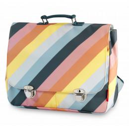 Schooltas large Stripe Rainbow
