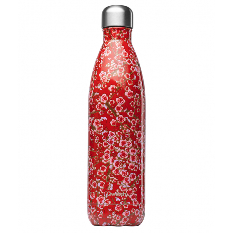 Bouteille nomade isotherme 750 ml - Rouge flowers