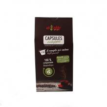 Ecologische en composteerbare capsules compatibel met Nespresso 100-capsules - Eenmalig gebruik