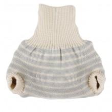 Culotte en laine - lignes grises et écru