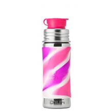 Roestvrijstalen drinkfles - sportmodel - 325 ml - Pink Swirl