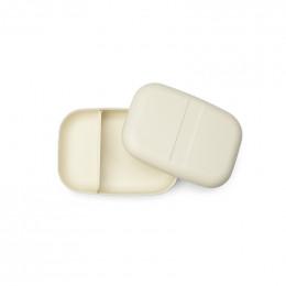 Boite à tartines à compartiments - lunch box Bento - Blanc cassé