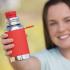 Roestvrijstalen drinkfles - sportmodel - 550 ml - Rood