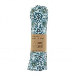 Handdoeken en servetten - 23x24cm - Blauwe parasols