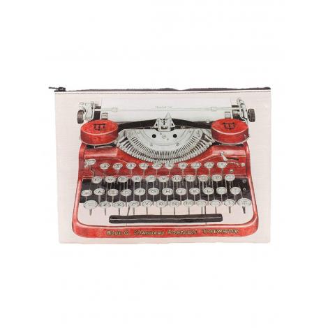 Grote tas gemaakt van gerecycled materiaal - Typewriter