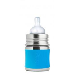 Korte siliconen hoes voor 150 ml RVS flesje Pura - Turqoise