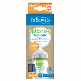 Kit de démarrage Options + Dr Brown - biberons anti-coliques - Lot de 3