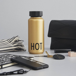Isothermische drinkfles Hot - Gold edition