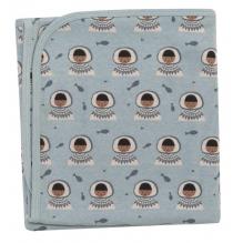 Couverture réversible en coton BIO - 72 x 72 cms -  Eskimo Surf