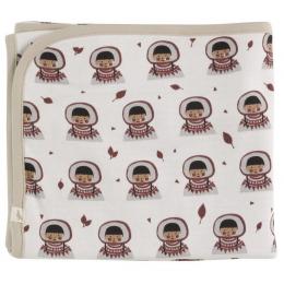 Omkeerbare deken in biologisch katoen - 72 x 72 cm - Eskimo Spice