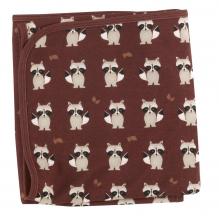 Omkeerbare deken in biologisch katoen - 72 x 72 cm - Wasbeer Spice