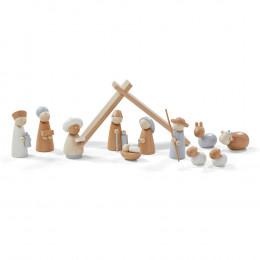 Crèche de Noël en bois - à partir de 3 ans