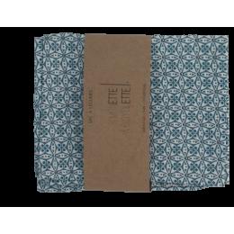Groentezak - 31 x 39 cm - Blauwe bloemen