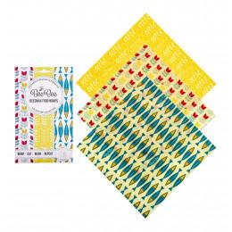 Emballage alimentaire réutilisable en cire d'abeille - Sardines