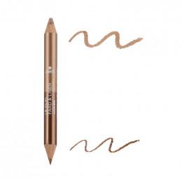 2-in-1 oogschaduw en potlood - Bronze Cuivré en Beige Doré