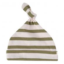 Babymutsje - Breton stripe olive
