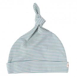 Babymutsje - Fine stripe turquoise