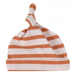 Babymutsje - Breton stripe sienna