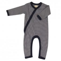Kimono pyjama - Fine stripe navy