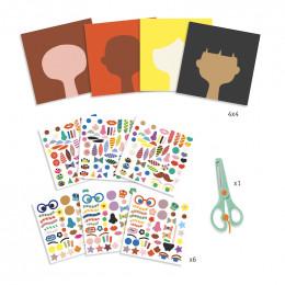 Knutselset stickers - Kapper