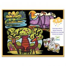 Fluwelen kleurplaten - Wilde dieren