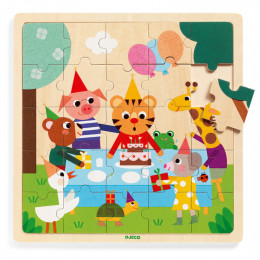Houten puzzel - Happy