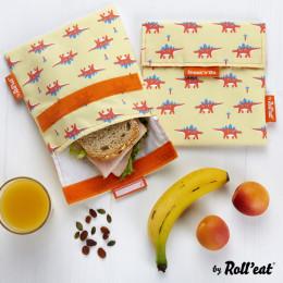 Afwasbaar en herbruikbaar snackzakje - Snack'n'Go - Kid Dinos