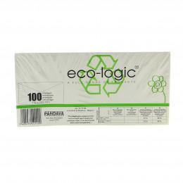 Venster enveloppen uit gerecycleerd papier - 114 x 229 mm - 100 stuks