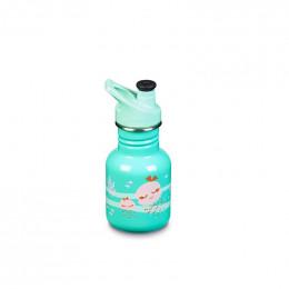 Gourde bouteille en inox  -  355 ml - Bouchon sport - Méduses