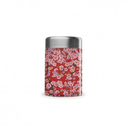 Travel soupe isotherme inox - Flowers - rouge - 340ml