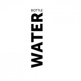 Bouteille en verre 1 litre - Water