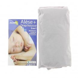 Mastrasbeschermer + Hoeslaken 2 in 1 voor babybed 70x140 cm
