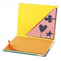 Arty block - gekleurd papier