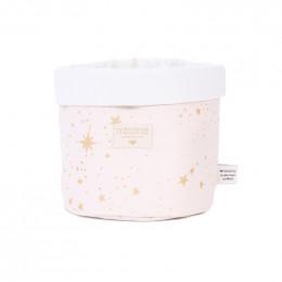 Mandje Panda - Gold stella & dream pink - medium